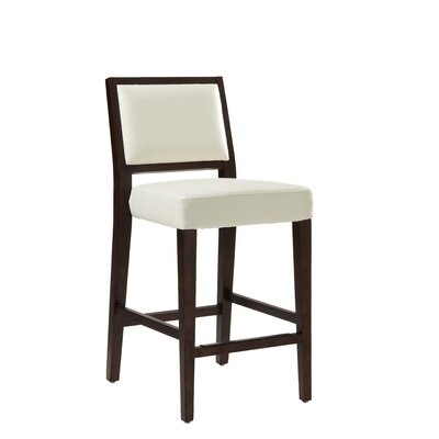 5West 30 Bar Stool with Cushion Color: Ivory