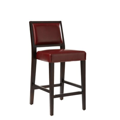 5West 30 Bar Stool with Cushion Color: Oxblood
