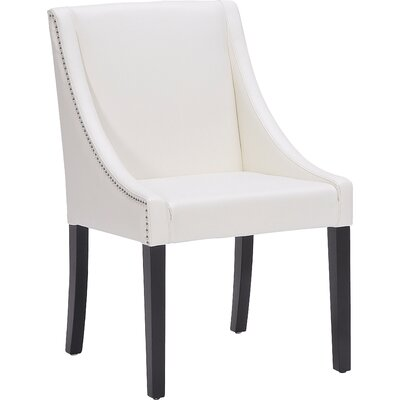 5West Lucille Arm Chair Upholstery: Leather - Ivory