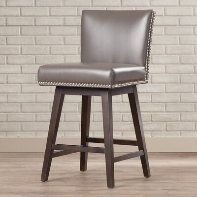 5West Vintage 26 Swivel Bar Stool Upholstery: Grey