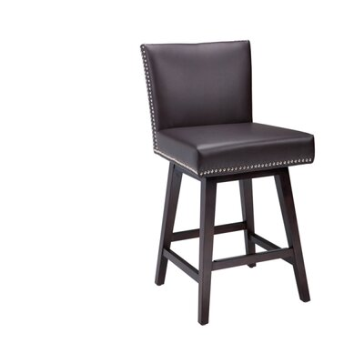5West Vintage 26 Swivel Bar Stool Upholstery: Brown