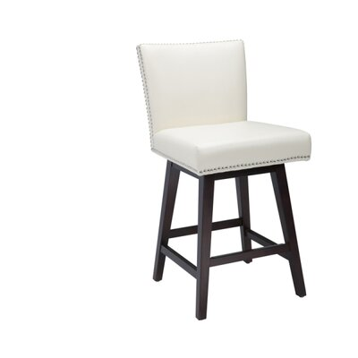 5West Vintage 26 Swivel Bar Stool Upholstery: Cream