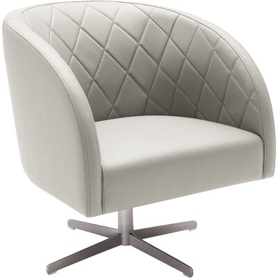 5West Boulevard Leather Barrel Chair Upholstery: Grey