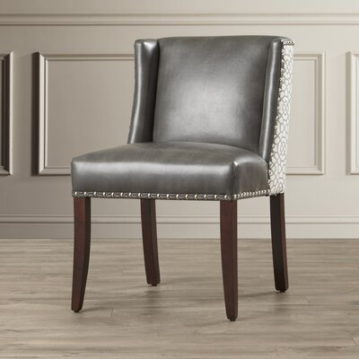 Marlin Genuine Leather Upholstered Dining Chair (Set of 2)