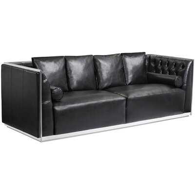 Club Maxime Chesterfield Sofa Upholstery: Black