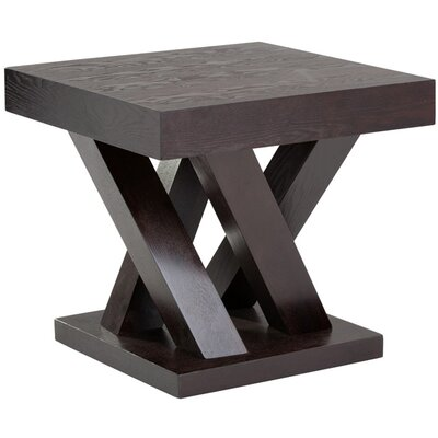 Ikon Madero End Table Color: Dark Espresso