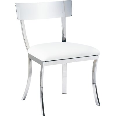 Ikon Maiden Genuine Leather Upholstered Dining Chair (Set of 2) Upholstery: White