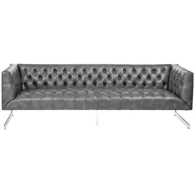 Club Chesterfield Sofa Upholstery: Grey