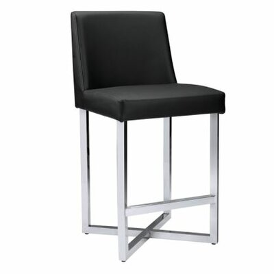 Ikon Howard Counter Stool Upholstery: Black