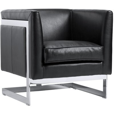 Club Soho Armchair Upholstery: Black Nobility