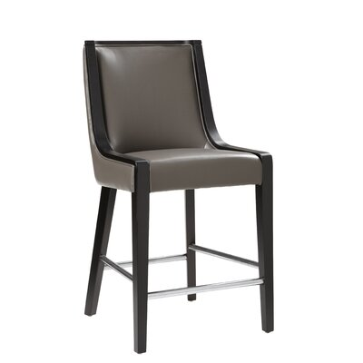 Newport 30 Bar Stool Seat Height: Counter (26), Color: Gray