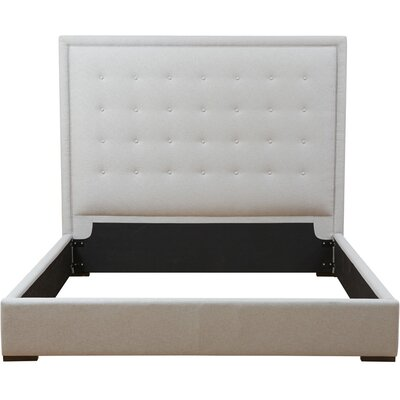 Jackie Upholstered Panel Bed Size: King