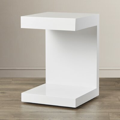 Ikon End Table Color: High Gloss White