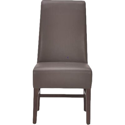 5West Habitat Genuine Leather Upholstered Dining Chair (Set of 2) Upholstery: Grey