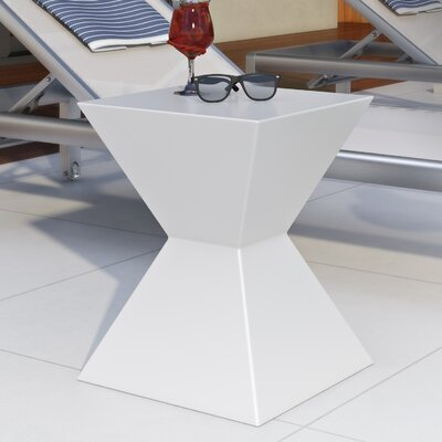 Rocco Urban Unity End Table Color: White