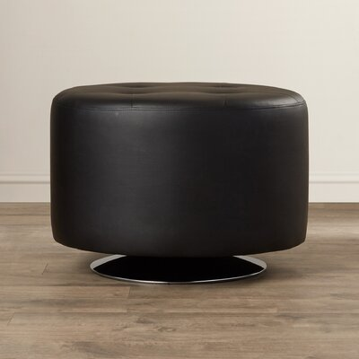 Domani Swivel Ottoman Upholstery: Black