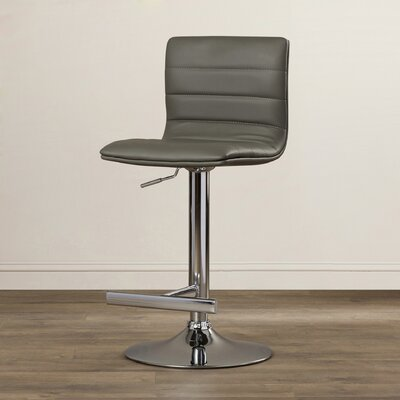 Urban Unity Motivo Adjustable Height Swivel Bar Stool Upholstery: Grey