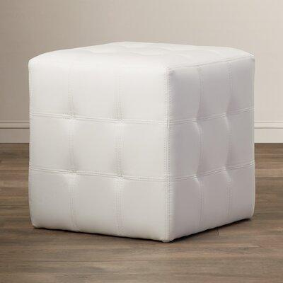 Urban Unity Dario Cube Ottoman Upholstery: White