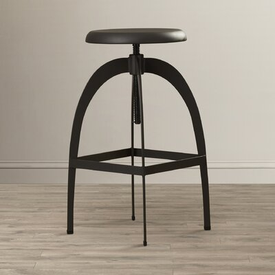 Urban Unity Colby Adjustable Swivel Bar Stool Finish: Gray