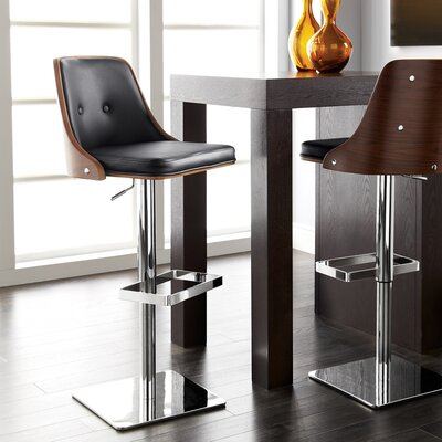 Urban Unity Braiden Adjustable Height Swivel Bar Stool with Cushion