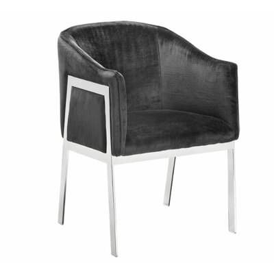 Club Rialto Barrel Chair Upholstery: Bella Black