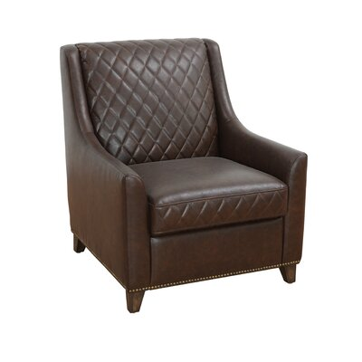 5West Bergamo Armchair Upholstery: Chestnut Brown