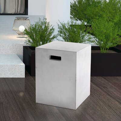 Mixt Castor End Table Color: White