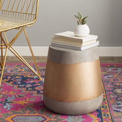 Aries End Table Finish: Gold