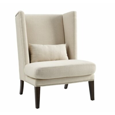 Malibu Wing back Chair Upholstery: Neutral Linen