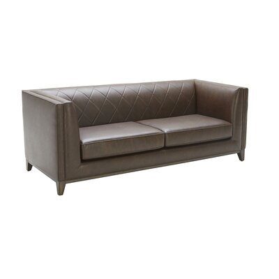 5West Leather Sofa Upholstery: Chestnut Brown