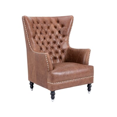 Rosedale Wing back Chair Upholstery: Brown