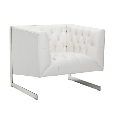 Club Viper Armchair Upholstery: White