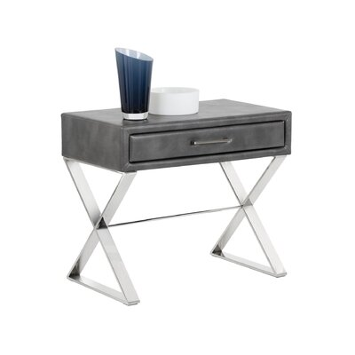 Club Casa End Table Color: Grey