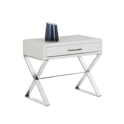 Club Casa End Table Color: White