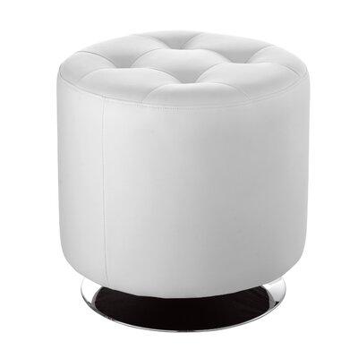 Urban Unity Domani Swivel Ottoman Small Upholstery: White