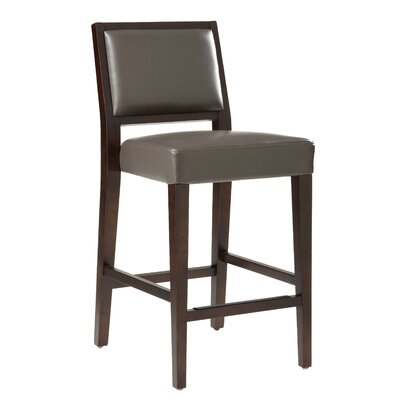 5West 26 inch Citizen Bar Stool with Cushion Upholstery: Grey