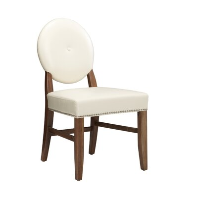 Low Price Sunpan Modern Florence Side Chair (Set of 2) Upholstery: Leather – Ivory
