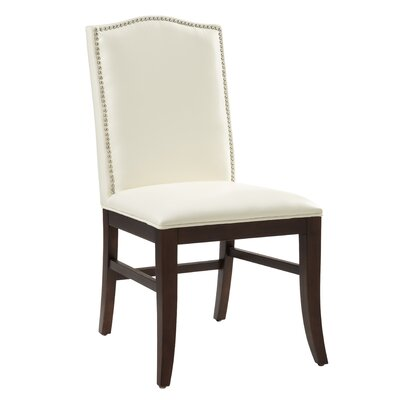 5West Maison Parsons Chair (Set of 2) Upholstery: Bonded Leather Ivory, Reclaimed Leg Finish: No