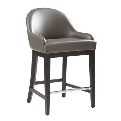 5West Haven 26 Bar Stool Upholstery: Grey