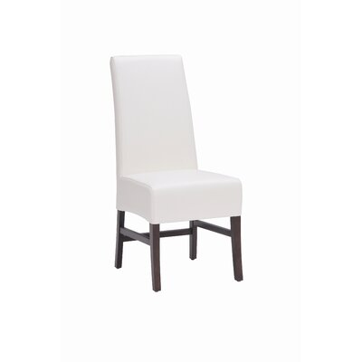 5West Habitat Genuine Leather Upholstered Dining Chair (Set of 2) Upholstery: Ivory