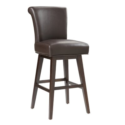5West Hamlett 30 Swivel Bar Stool Upholstery: Brown