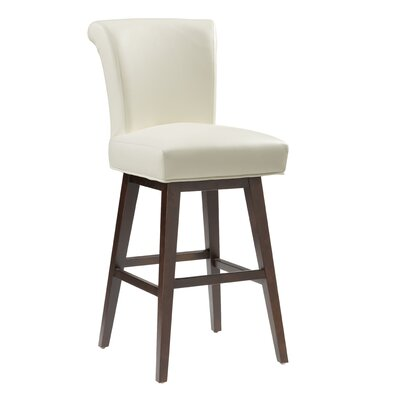 5West Hamlett 30 Swivel Bar Stool Upholstery: Ivory