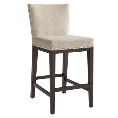 5West Vintage 30 Bar Stool with Cushion Upholstery: Linen