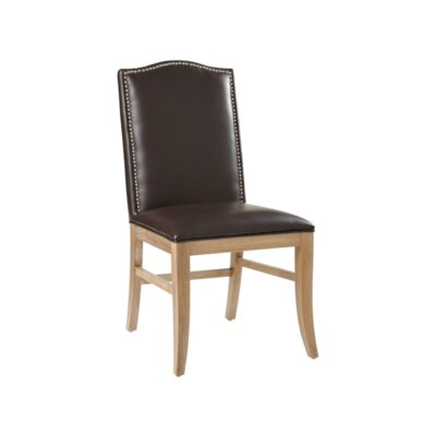 5West Maison Parsons Chair (Set of 2) Upholstery: Bonded Leather Brown, Reclaimed Leg Finish: Yes