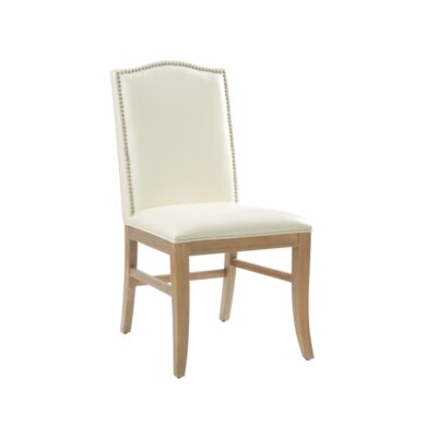 5West Maison Parsons Chair (Set of 2) Upholstery: Bonded Leather Ivory, Reclaimed Leg Finish: Yes