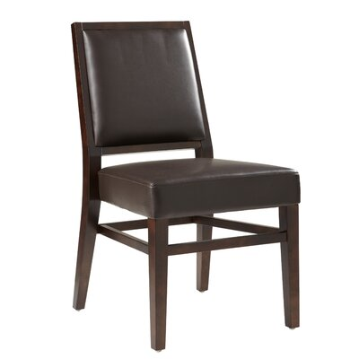 5West Citizen Genuine Leather Upholstered Dining Chair (Set of 2) Upholstery: Brown