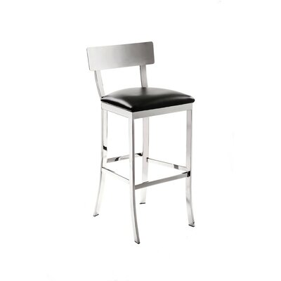 Ikon Maiden 30 Bar Stool Upholstery: Black