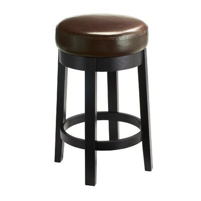 5West 26 Cedric Swivel Bar Stool Upholstery: Brown