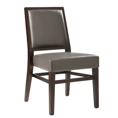 5West Citizen Genuine Leather Upholstered Dining Chair (Set of 2) Upholstery: Grey