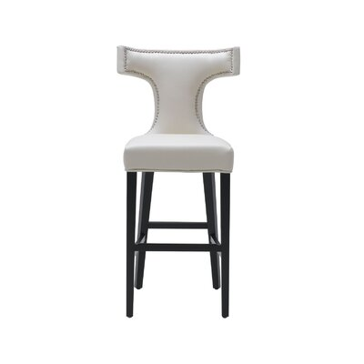 5West 30 Serafina Bar Stool with Cushion Upholstery: Cream